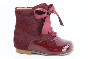 Papanatas Burgundy Leather Boot 4238X