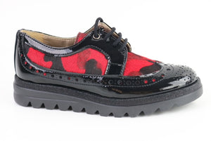 Papanatas Red Camo Black Leather Sneaker 4457X