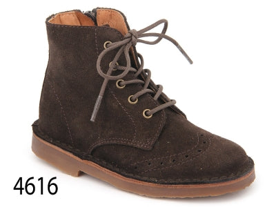 Confetti Brown Suede High Top Bootie 4616