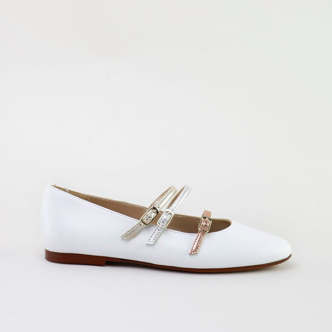 Papanatas White Buckled Dress Shoe 48003AA