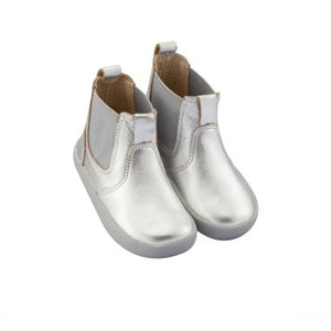Oldsoles Silver Leather Bootie 5009