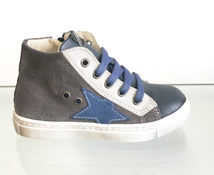 Shoe b 76 Navy Grey High Top Sneaker 55