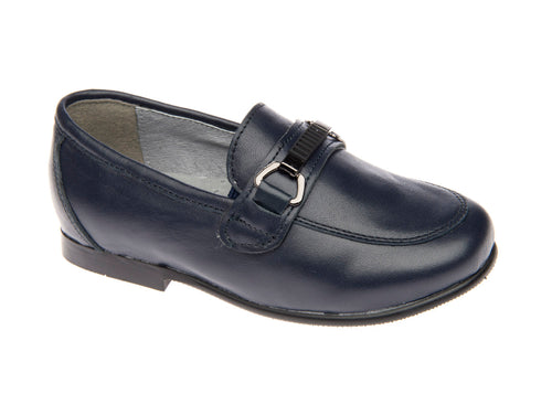 Venettini Navy Buckle Dress Shoe