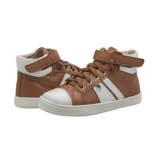 Oldsoles Faux Lace Tan High Top Sneaker 6046