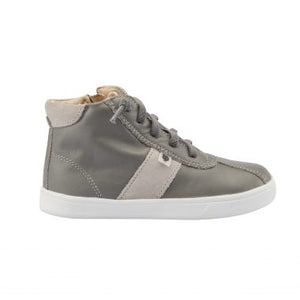 Oldsoles Grey Zipper High Top Sneaker 6076