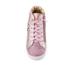 Oldsoles Pink Glitter High Top Sneaker 6082