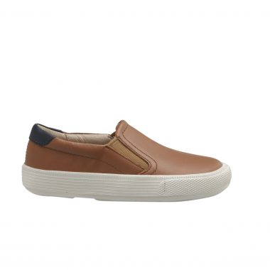 Old Soles Tan Leather Slip On Sneaker 6097
