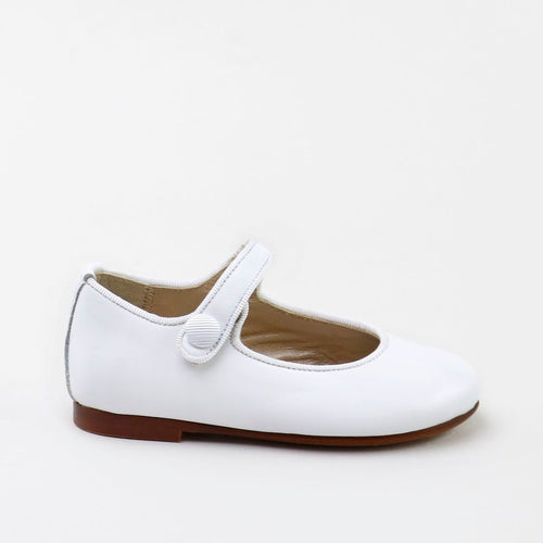 Papanatas White Leather Mary Jane 6315AA
