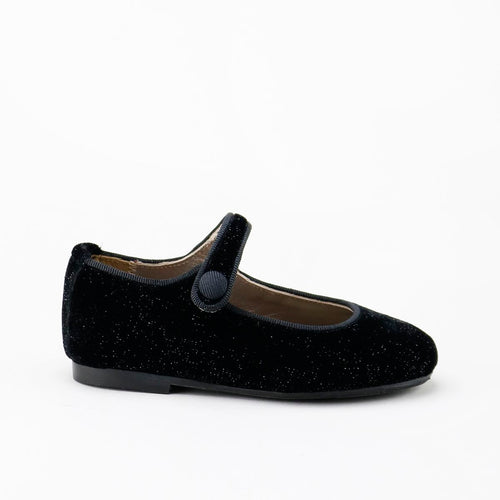 Papanatas Black Velvet Shimmer Mary Jane 6315Z