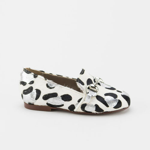 Papanatas Leopard Print Chain Loafer 6474Y