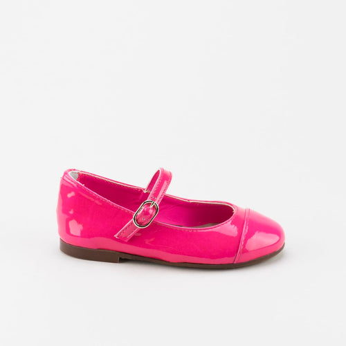 Papanatas Neon Pink Patent Leather Mary Jane 6670y