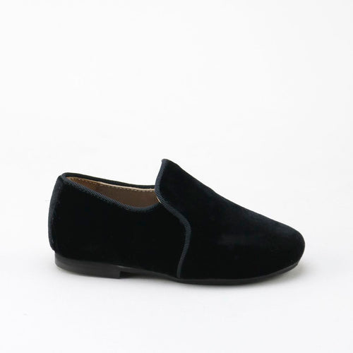 Papanatas Black Velvet Smoking Slip On 6957A