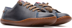 Camper Dark Blue No Tie Sneaker 80003