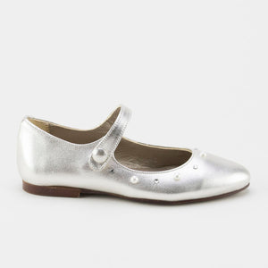 Papanatas Silver Pearl Mary Jane 8215Y