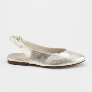 Papanatas Gold Leather Sling Back 8217y