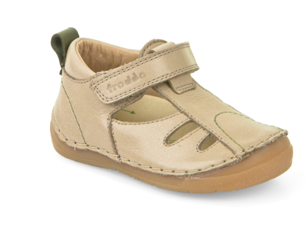 Froddo Beige Leather Sandal. 2150075 **Final Sale