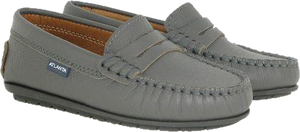 Atlanta Moccasin Grey Leather Loafer AN27