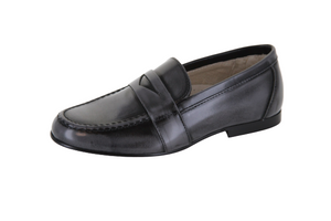Hoo Grey High Shine Penny Loafer 2175