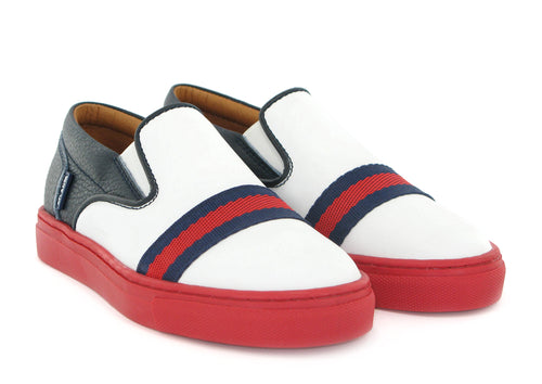 Atlanta Mocassin Blue Red White Slip On Sneaker f047