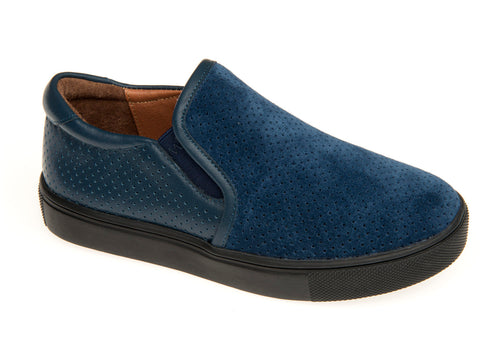 Venettini Ocean Blue Suede Slip On Sneaker