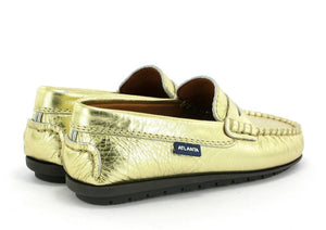 Atlanta Moccasin Gold Metallic Penny Loafer 18381-MT64
