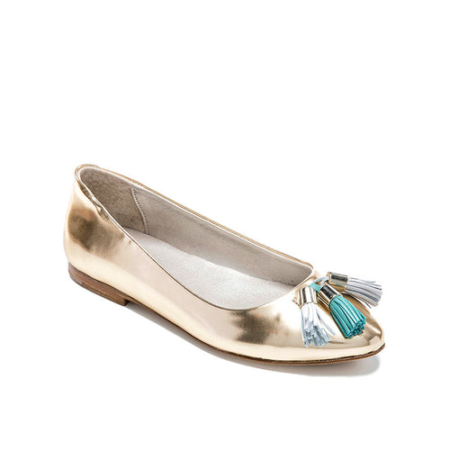 Bellusa Ana Gold Tassel Slip On-FINAL SALE