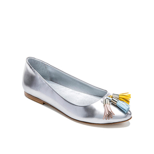 Bellusa Ana Silver Tassel Slip On- FINAL SALE
