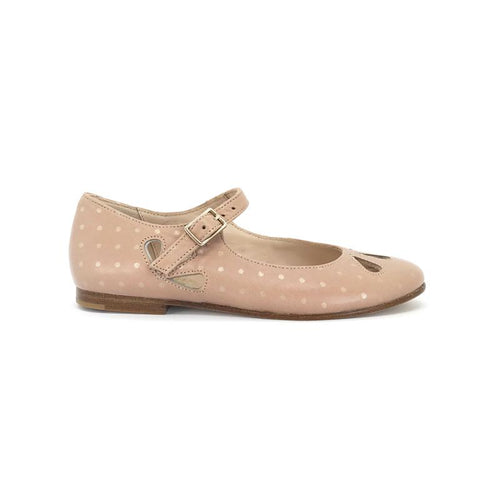 The Eugens Rose Dots Cut Out Alexa Mary Janes 1468