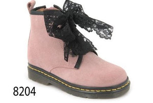 Confetti Pink Suede Laced Bootie 8204