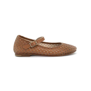 The Eugens Cognac Ava Perforated Mary Jane 1469