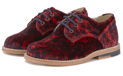 Young Soles Bobby Brogue Red Velvet