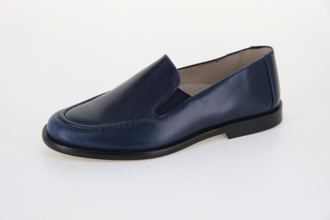 Hoo Double Gore Navy Leather Loafer 2171
