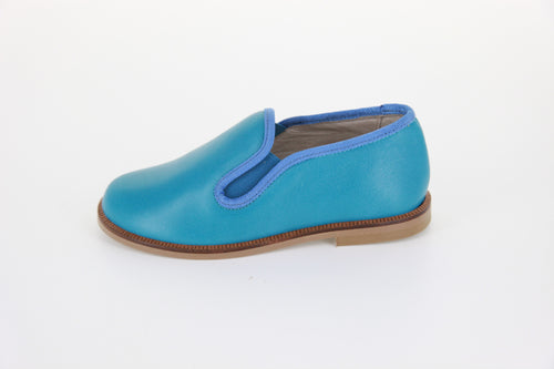 Hoo Turquoise Smoking Loafer