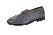 Hoo Grey Ribbon Loafer 2181