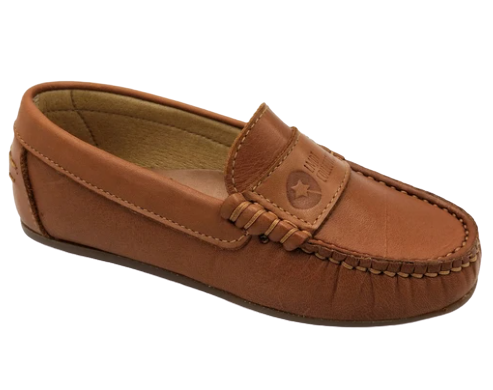 LMDI Cognac Leather Slip On Loafer