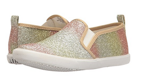 Amiana Rainbow Glitter Slip-on Sneaker A0864