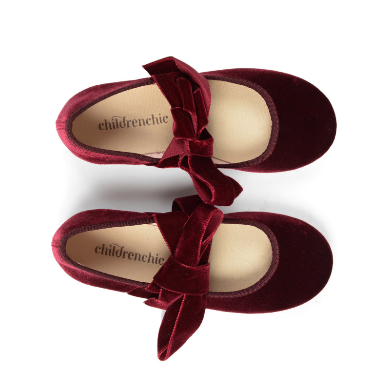 ChildrenChic Ballerina Burgundy Slip On