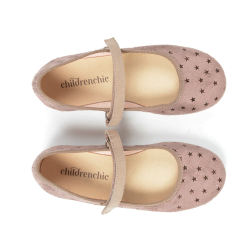 ChildrenChic Taupe Star Mary Jane