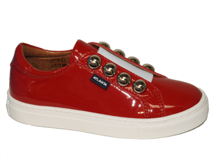 Atlanta Red Studded Slip On Sneaker