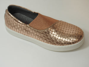 Blublonc Rose Gold Slip On Sneaker 2921
