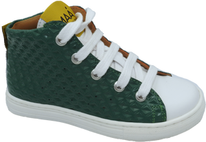 Maa by Manuela De Juan Green Technic High Top Side Zipper Sneaker C355