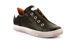 Froddo Black Leather Slip On Sneaker G3130127