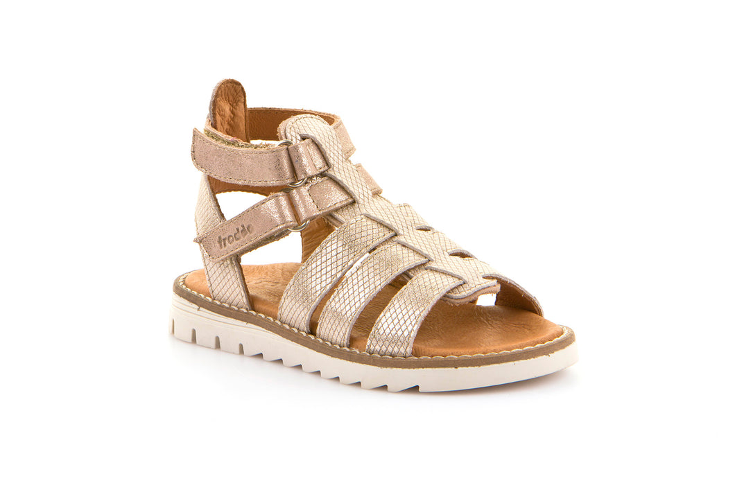 Froddo Gold Gladiator Leather Sandal G3150134
