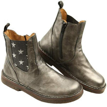 Pepe' Old Metal Star Side Zipper Boot 2038