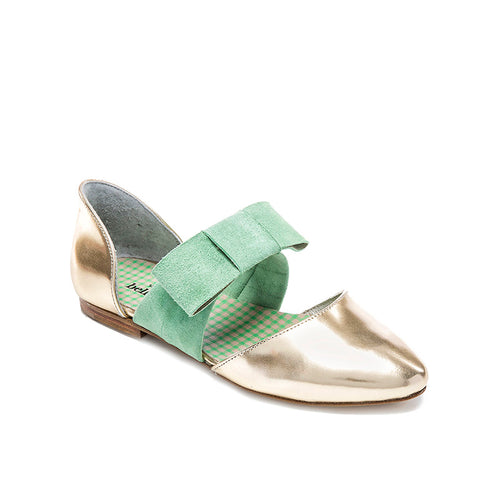 Bellusa Guggy Gold Green Bow