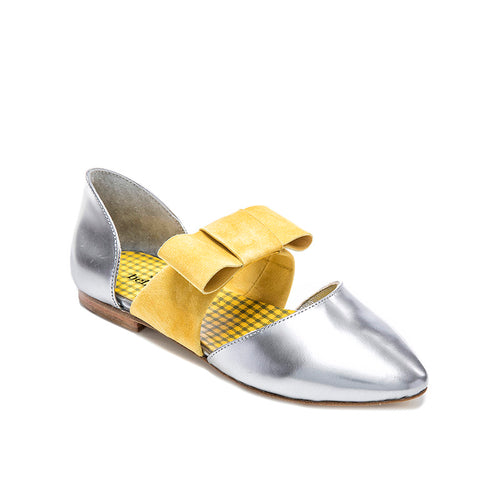 Bellusa Guggy Silver Yellow Bow **Final Sale