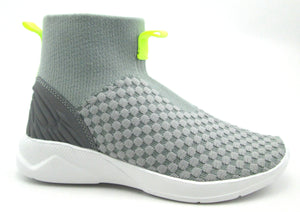 Sync Grey Sock High Top Sneaker