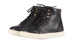 Young Soles Henry Black Leather High Top Sneaker