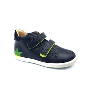 Shoe B 76 Navy Green High Top Velcro Sneaker 9711