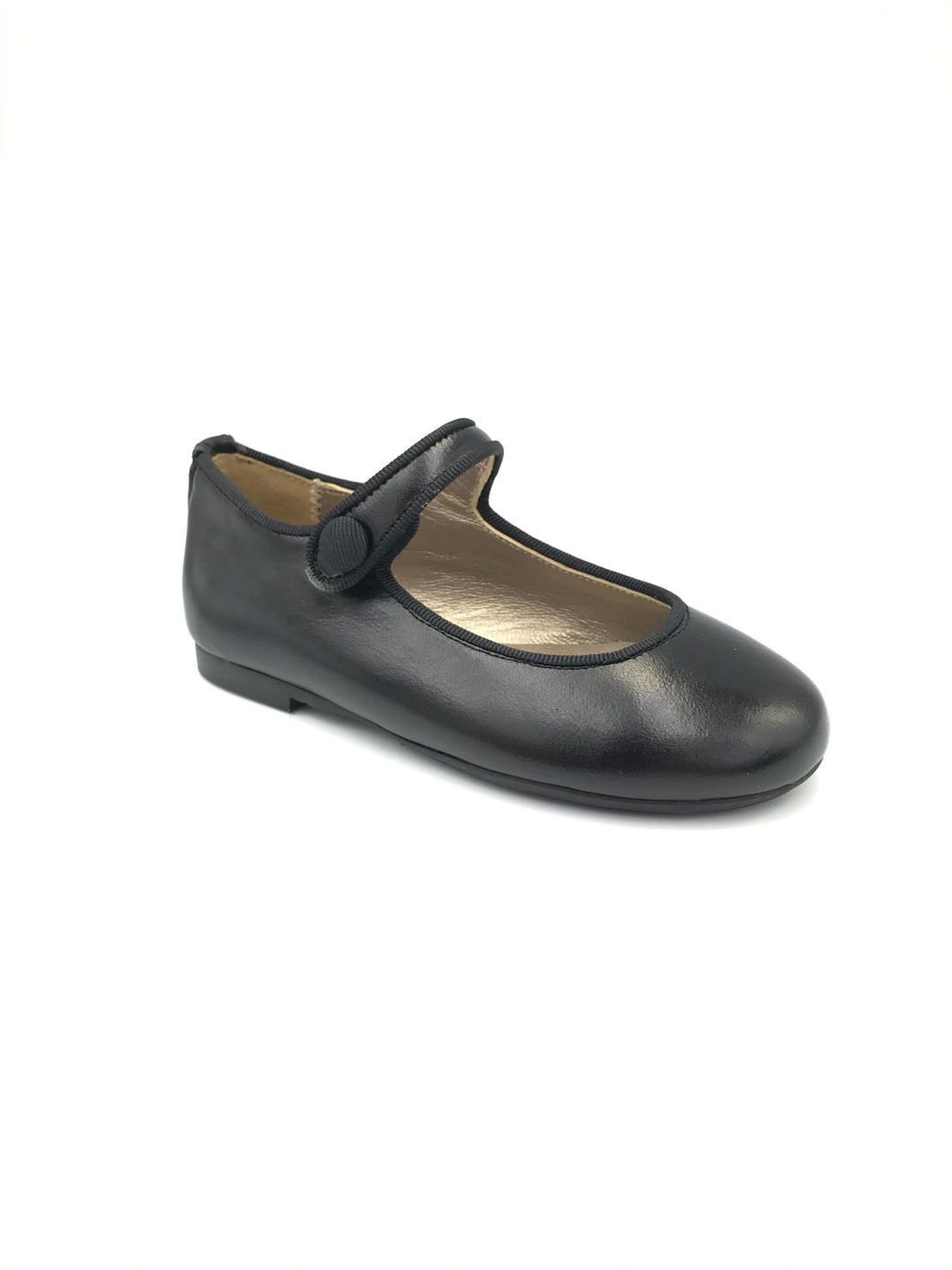 Papanatas Black Leather Mary Jane 6315Z